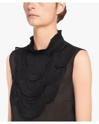 Prada - Black Georgette Top - Lyst