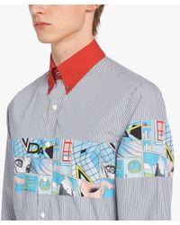 Prada - Gray Cotton Poplin Shirt for Men - Lyst