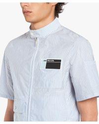 Prada - Blue Technical Fabric Jacket for Men - Lyst