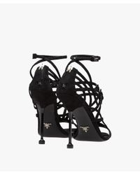 Prada - Black Suede Sandals - Lyst
