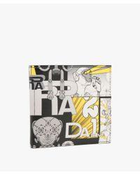 Prada - Black Printed Calf Leather Wallet for Men - Lyst