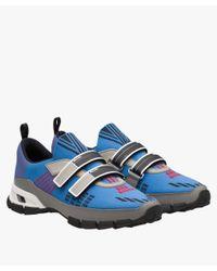 Prada - Blue Crossection Sneakers for Men - Lyst