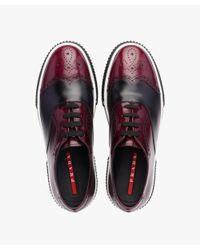 Prada - Multicolor Two-tone Calf Leather Sneakers for Men - Lyst