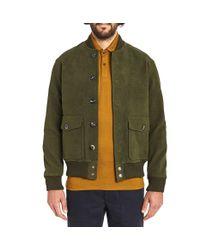 Private White V.c. | Green Moleskin Bomber Jacket for Men | Lyst
