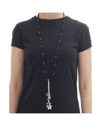 Olia Jewellery - Black Elsa Hanging Stars Necklace - Lyst