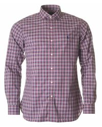 Polo Ralph Lauren | Red Custom Fit Multi Checked Shirt for Men | Lyst