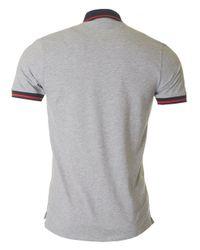 HUGO - Gray Darese Short Sleeved Polo for Men - Lyst