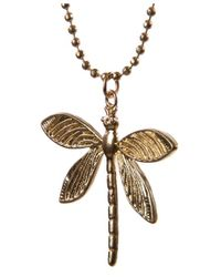 Olia Jewellery - Metallic Edith Dragonfly Necklace - Lyst