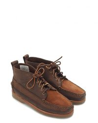 G.H. Bass & Co. | Brown Camp Moc 2 Ranger Mix Boots for Men | Lyst