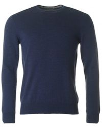 J.Lindeberg - Blue Lyle Crew Neck Knit for Men - Lyst