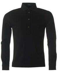 J.Lindeberg | Black Cony Long Sleeved Polo Shirt for Men | Lyst