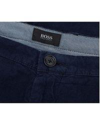 BOSS Black - Blue Rice 3-d Slim Fit Cord Trousers - Lyst