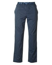 Emporio Armani | Blue Woven Pyjama Bottoms for Men | Lyst
