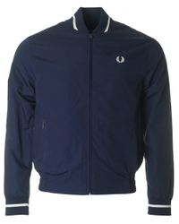 Fred Perry | Blue Made In England Tennis Bomber Jacket for Men | Lyst