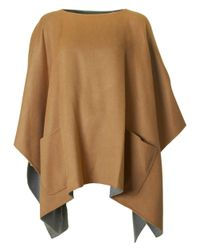 Michael Kors | Multicolor Double Face Two Pocket Cape | Lyst