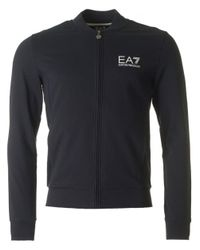 EA7 | Blue Train Core Id Zip Through Baseball Sweat for Men | Lyst