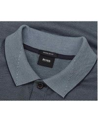 BOSS Black - Blue Parlay 07 Contrast Collar Polo for Men - Lyst