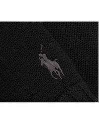 Polo Ralph Lauren - Black Pp Logo Merino Gloves for Men - Lyst