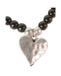 Olia Jewellery - Black Rita Beaded Heart Bracelet - Lyst