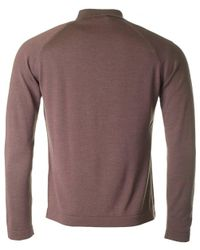 J.Lindeberg - Purple File Long Sleeved Knitted Polo for Men - Lyst
