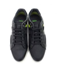 BOSS - Black Metro 10 Cup Sole Leather Trainers for Men - Lyst