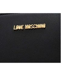 Moschino - Black Love Pom Pom Shopper Bag - Lyst