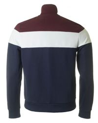 Fred Perry - Blue Colour Block Track Jacket for Men - Lyst