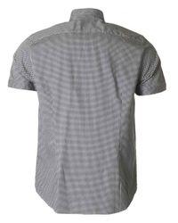 Ted Baker - Blue Munkee Short Sleeved Printed Shirt for Men - Lyst