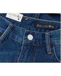 Religion - Blue Hackney Denim Shorts - Lyst