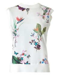 Ted Baker - White Tropical Oasis Oversize Top - Lyst