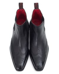 Jeffery West - Black Punch Detail Chelsea Boots for Men - Lyst