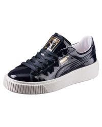 PUMA - Multicolor Basket Platform Patent Women's Sneakers - Lyst