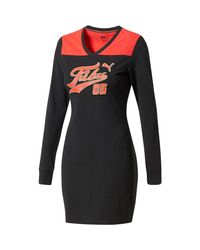 PUMA - Black X Fubu Women's T-shirt Dress - Lyst