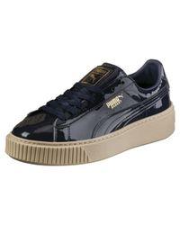 PUMA Lace Basket Platform Fo Women's Sneakers in Blue Lyst