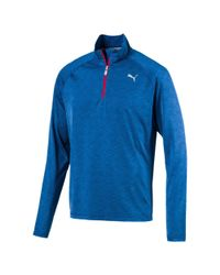 86aa6198841 Lyst - Puma Core-run Quarter-zip Top in Blue for Men