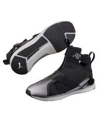PUMA - Black Fierce Strap Metallic Women's Training Shoes - Lyst