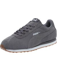 PUMA - Gray Turin Suede Men's Sneakers for Men - Lyst