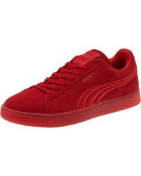 PUMA | Red Suede Classic Badge Iced Men's Sneakers for Men | Lyst