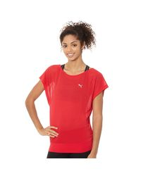 PUMA | Red Burnout Layer T-shirt | Lyst