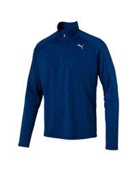 PUMA | Blue Core-run Quarter-zip Top for Men | Lyst