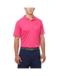 PUMA - Purple Pounce Golf Polo Shirt for Men - Lyst