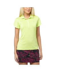 PUMA - Green Petal Golf Polo Shirt - Lyst