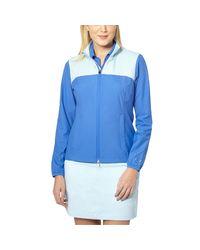 PUMA - Blue Tech Golf Wind Jacket - Lyst