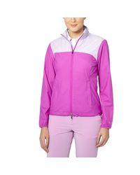 PUMA - Purple Tech Golf Wind Jacket - Lyst