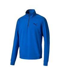 PUMA - Blue Stretchlite Half-zip Top for Men - Lyst