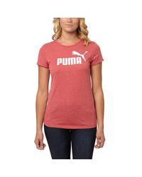 PUMA   Red No. 1 Heather T-shirt   Lyst