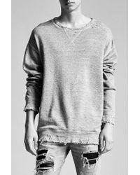 R13 | Blue Indigo Linen Sweatshirt for Men | Lyst