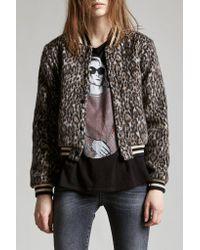 R13 - Gray Leopard Wool Roadie - Lyst