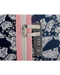 Radley - Blue Folk Dog Large Spinner Suitcase - Lyst