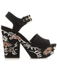 Guess - Flca21 Esu03 High Heeled Sandals Women Black Women's Sandals In Black - Lyst